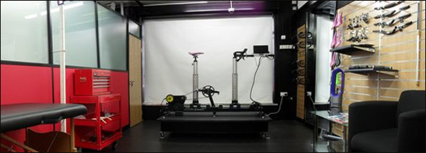 Bike Fitting Studio at Cycle-ops Bike Shop Tonbridge Kent. Sizecycle and Dartfish